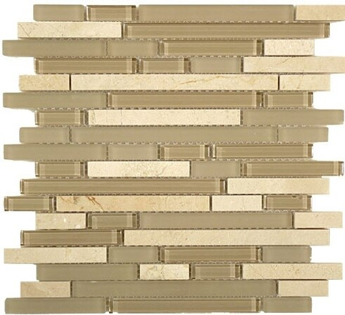 Bella Glass Tiles Random Brick Series SES05 Driftwood