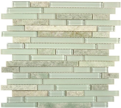 Bella Glass Tiles Random Brick Series SES02 Frosted Dusk