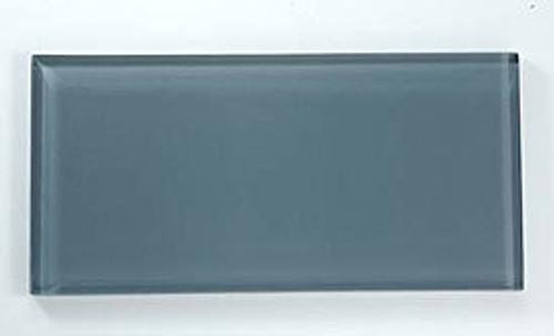 Bella Glass Tiles Crystile Series 3 x 6 Subway Eclipse C06-1