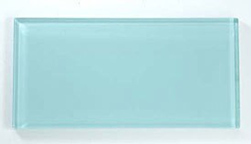 Bella Glass Tiles Crystile Series 3 x 6 Subway Soft Mint