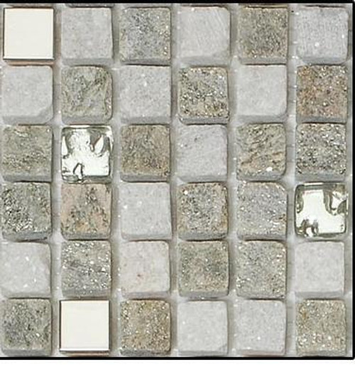 Bella Glass Tiles Opulence 5/8 x 5/8 Mosaic Series Flint Smoke