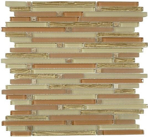 Bella Glass Tiles Brush Stroke Series Pueblo Clay Mosaic Tile
