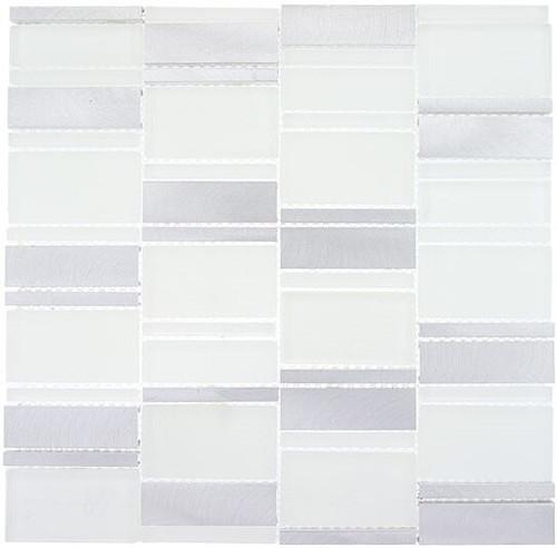 Bella Glass Tiles Corrugated Scapes Series Arctic Plateau CSS121
