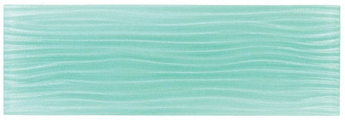 Bella Glass Tiles Crystile Wave Glass Subway 4 x 12 Soft Mint