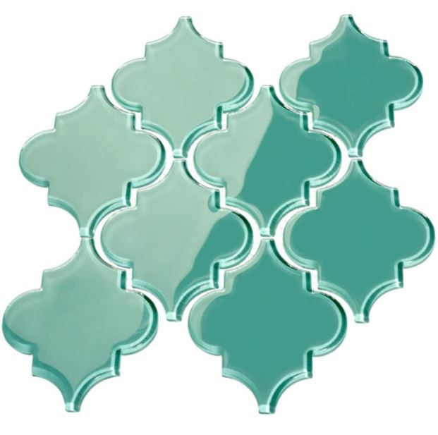 Giorbello Arabesque Glass Tile