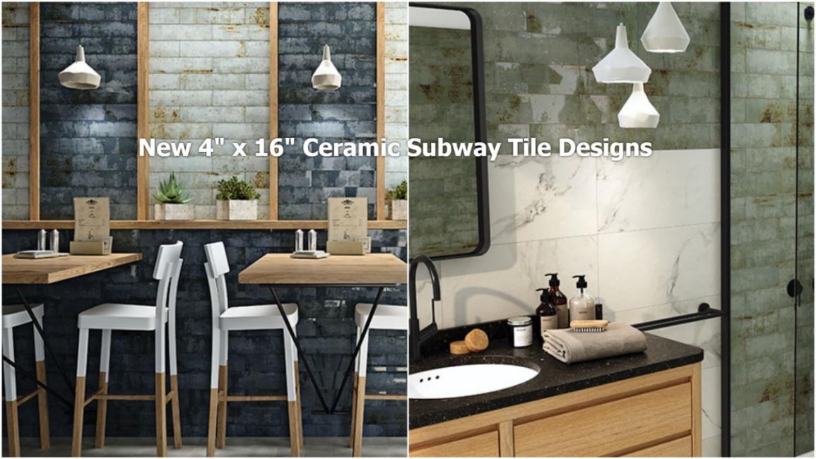 New ceramic subway field tiles