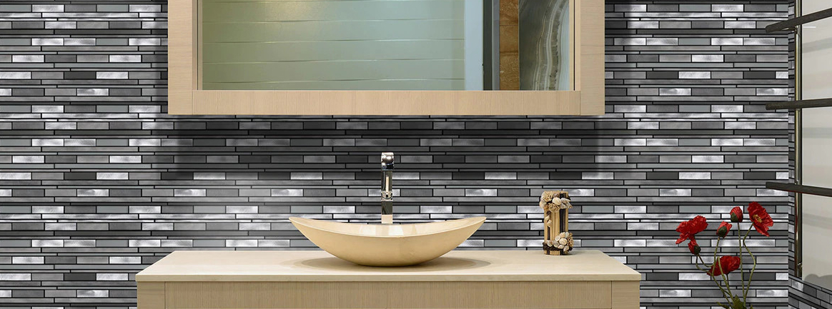 Aluminum Metal Mosaic Tile Backsplash | BELK Tile
