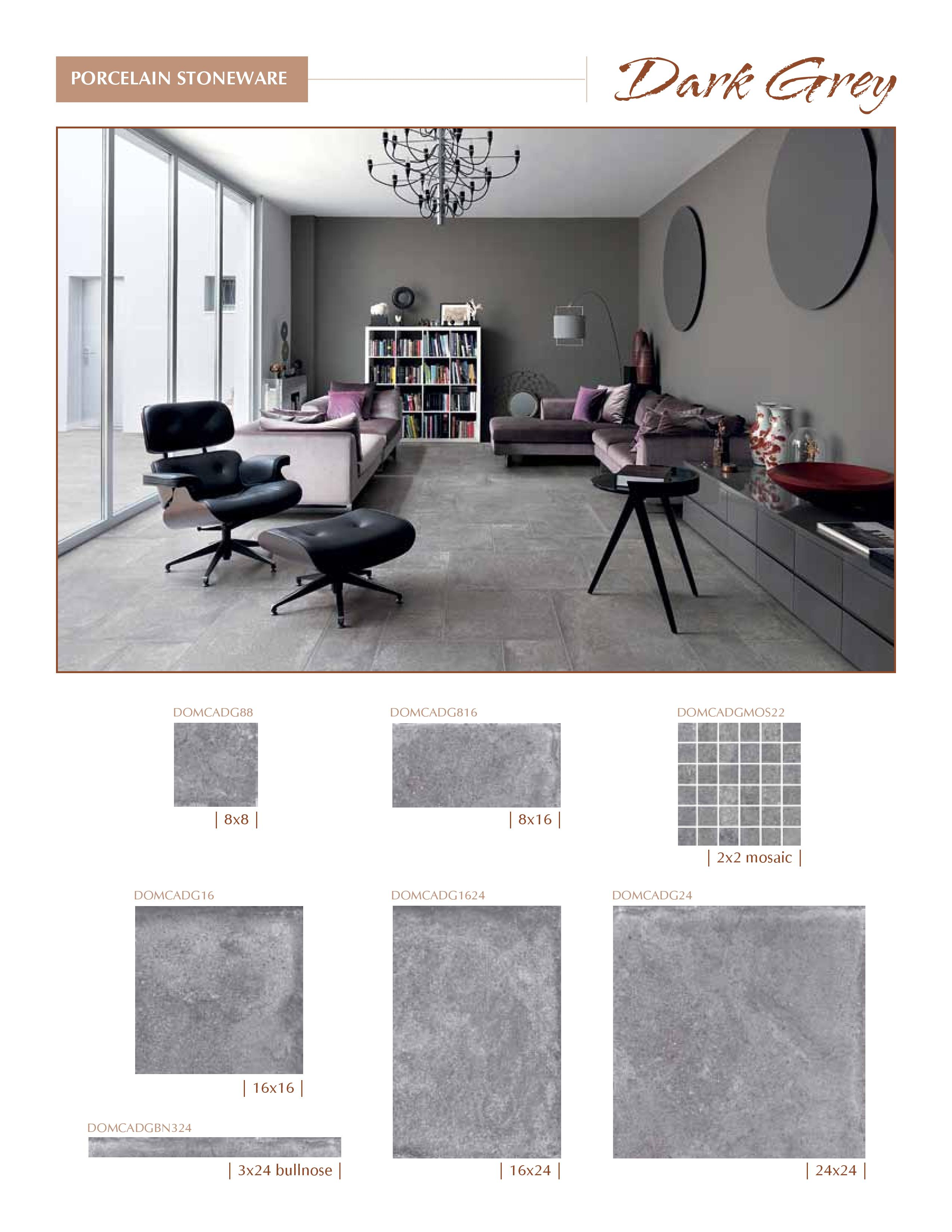 Castle Series by Cerdomus Dark Grey Color now at belktile.com