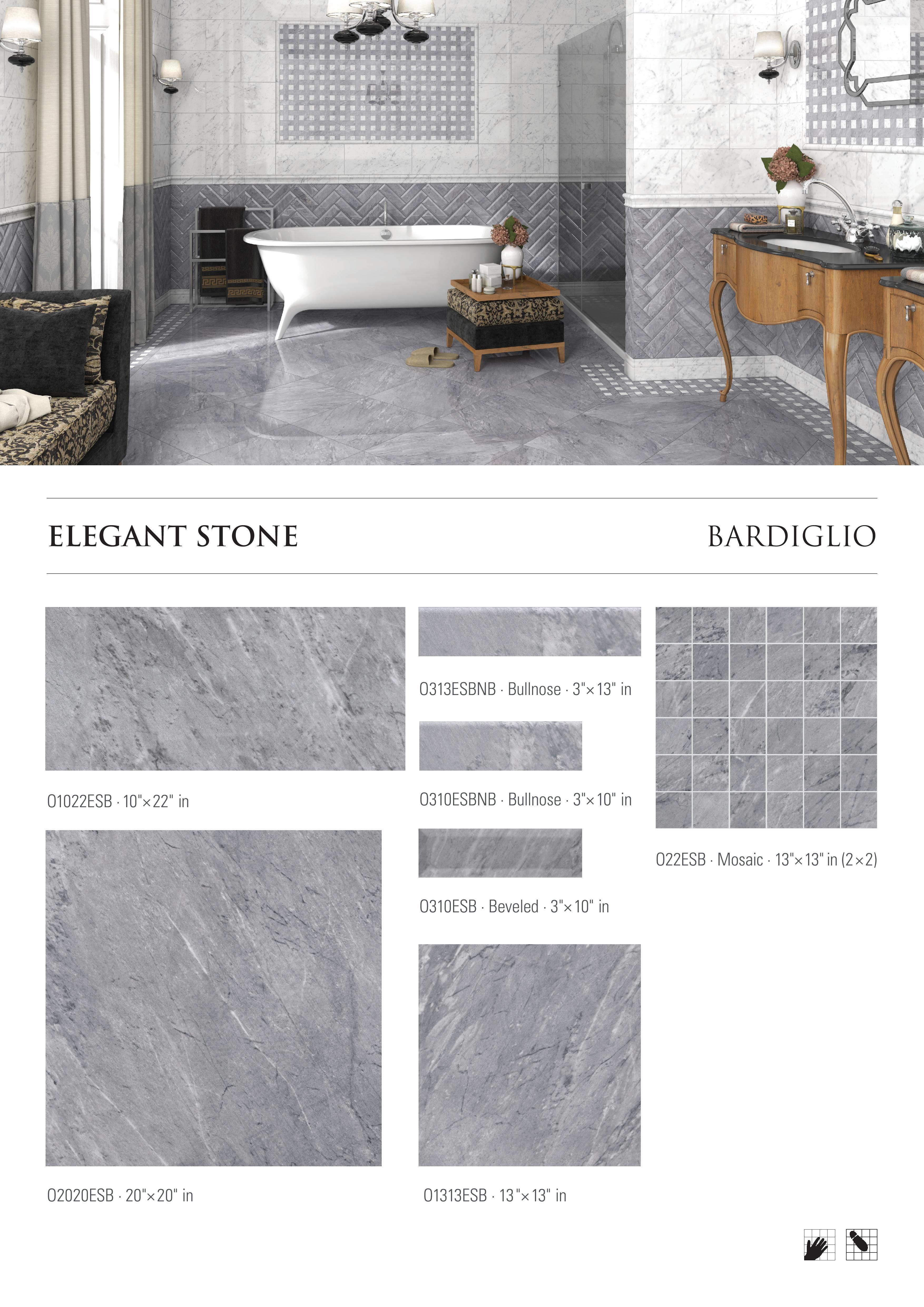 Elegant Stone Bardiglio Porcelain Tile by Opulenza at belktile.com