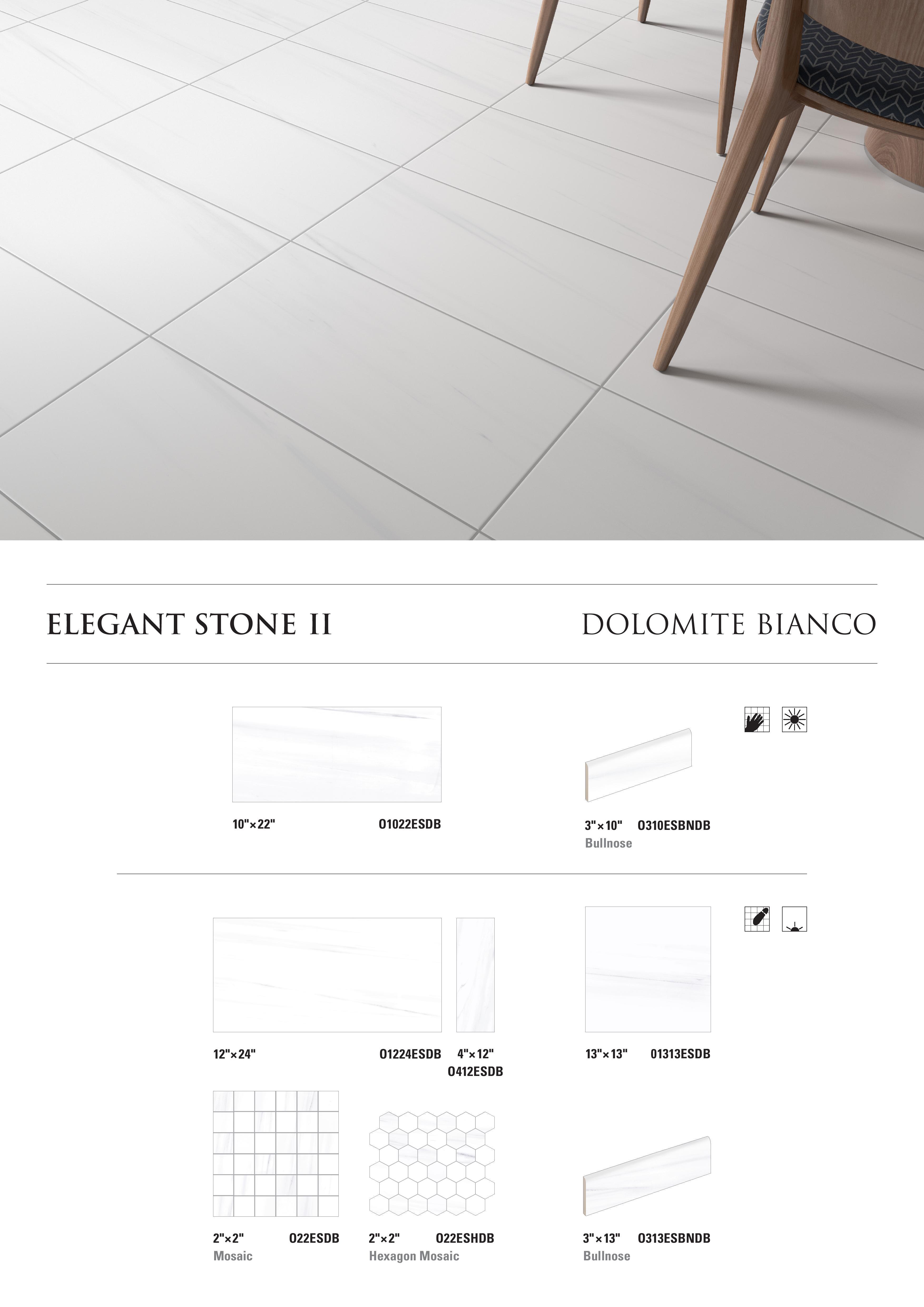 Elegant Stone II Dolomite Bianco by Opulenza at belktile.com