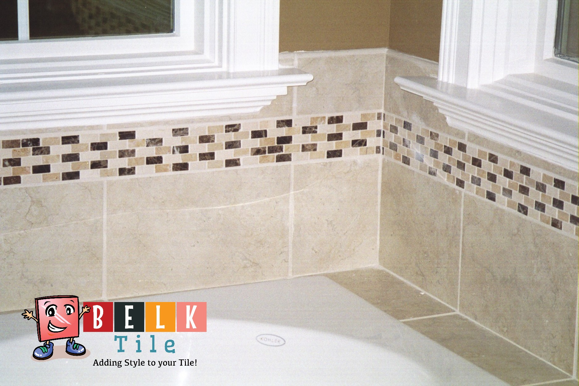 Natural Stone listello ideas | Marble listello | Natural stone listello designs | BELK Tile