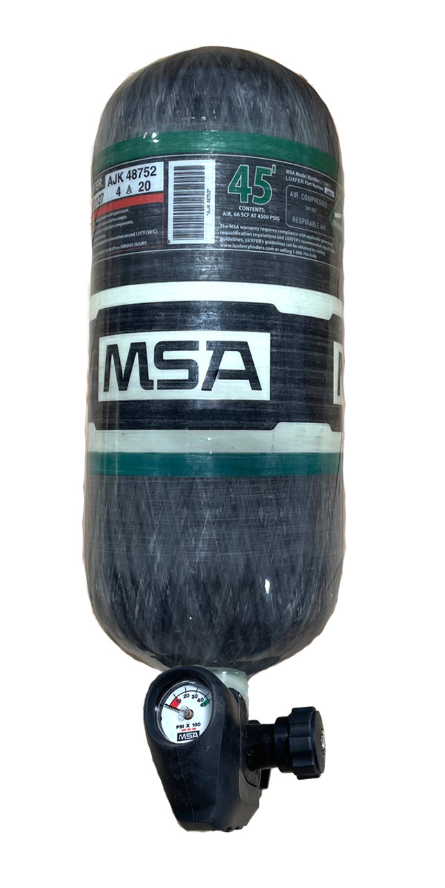 New MSA Stealth Cylinder with G1 Valve