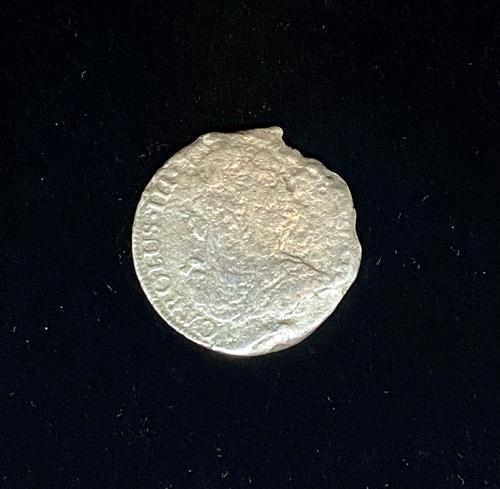 El Cazador 8 Real Coin - Loose. Front.
