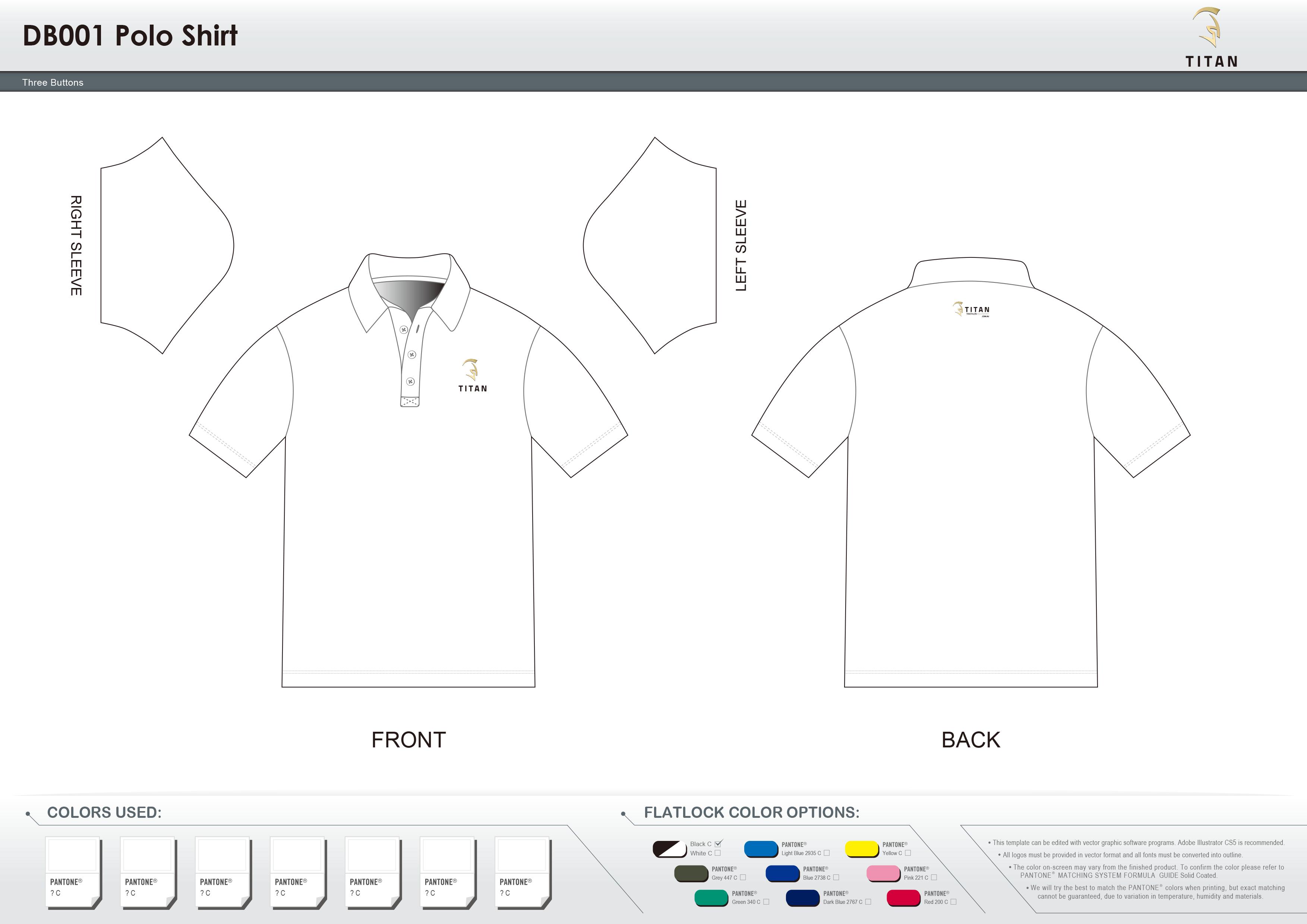 DB001 Men's Polo Shirt