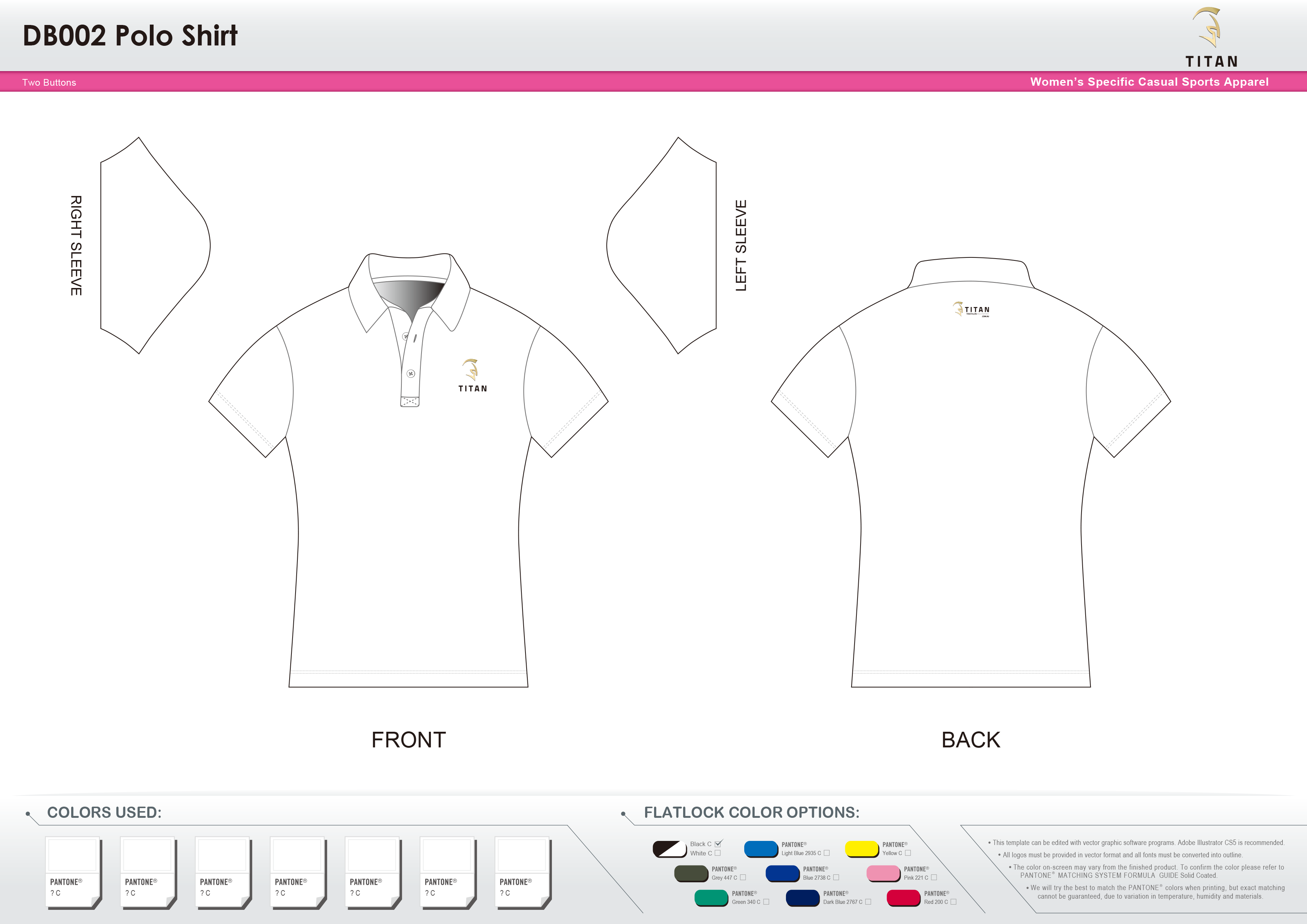 DB002 Women's Polo Shirt