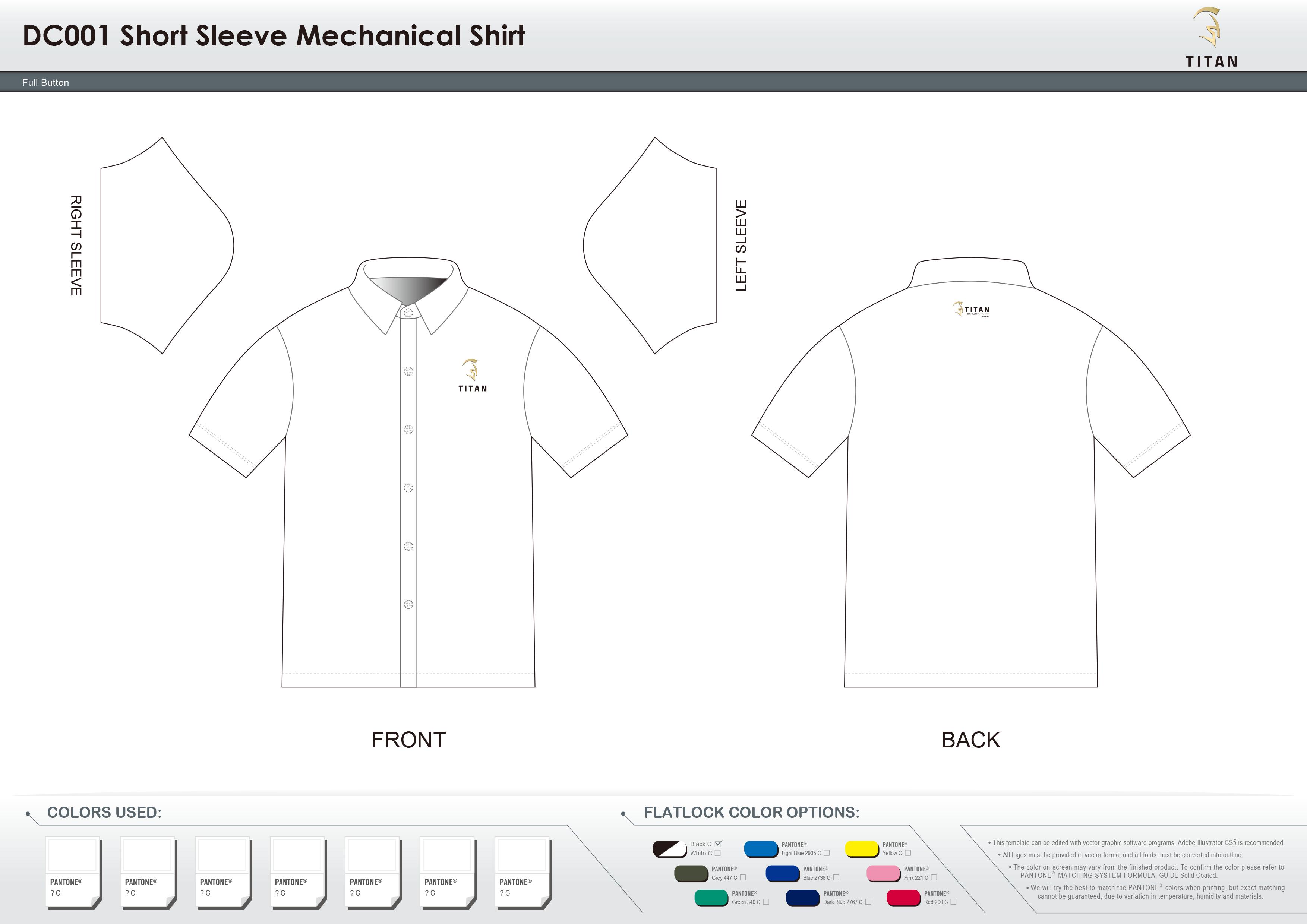 DC001 Short Sleeve Mechanical Shirt