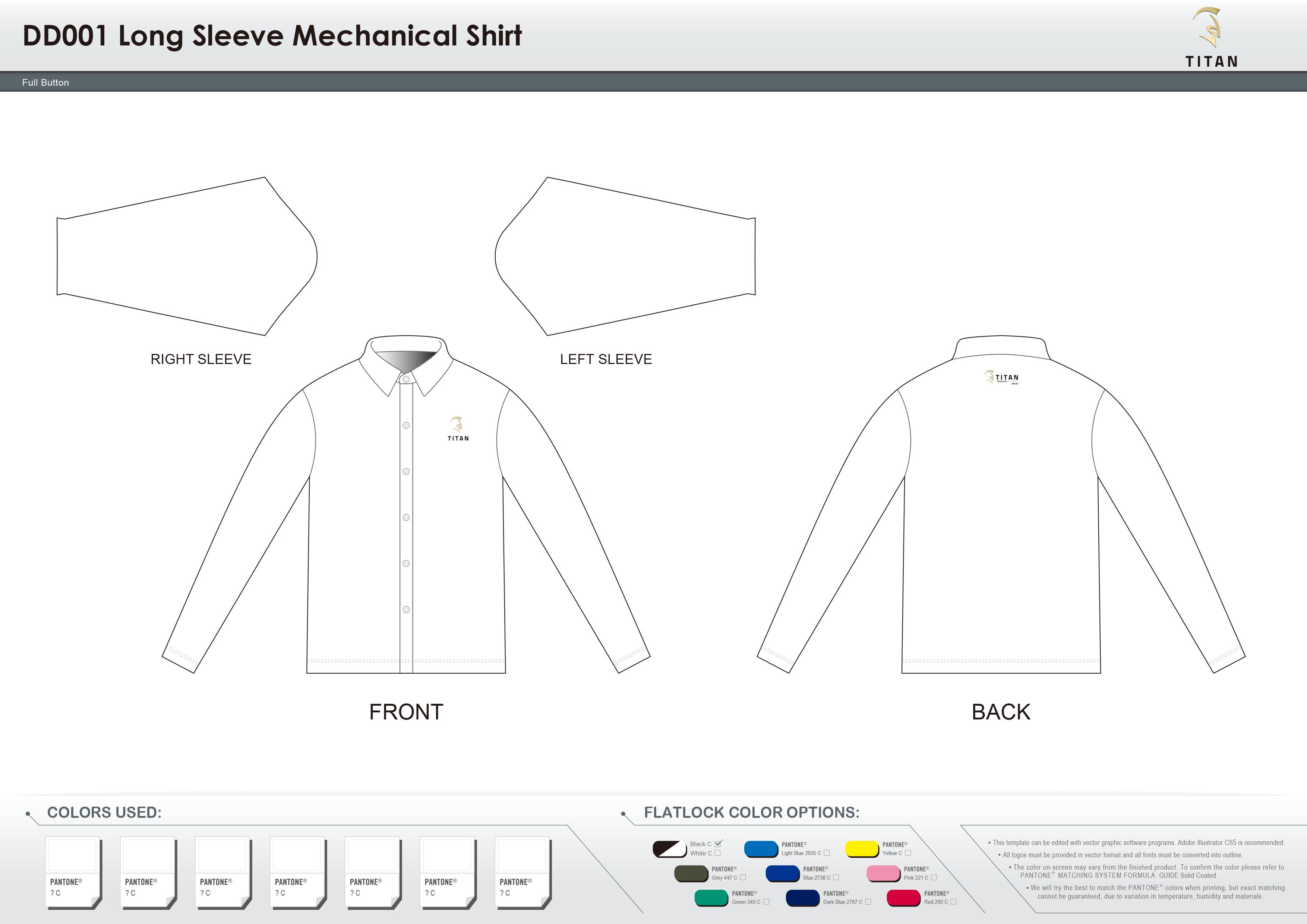 DD001 Long Sleeve Mechanical Shirt