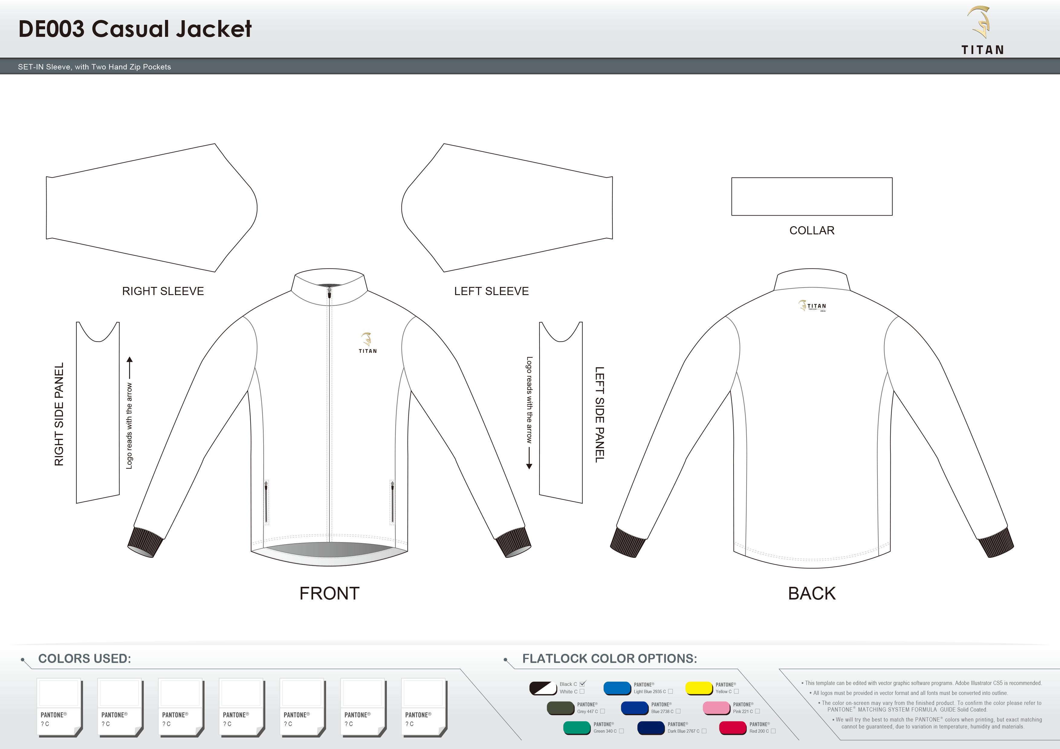 DE003 Casual Jacket