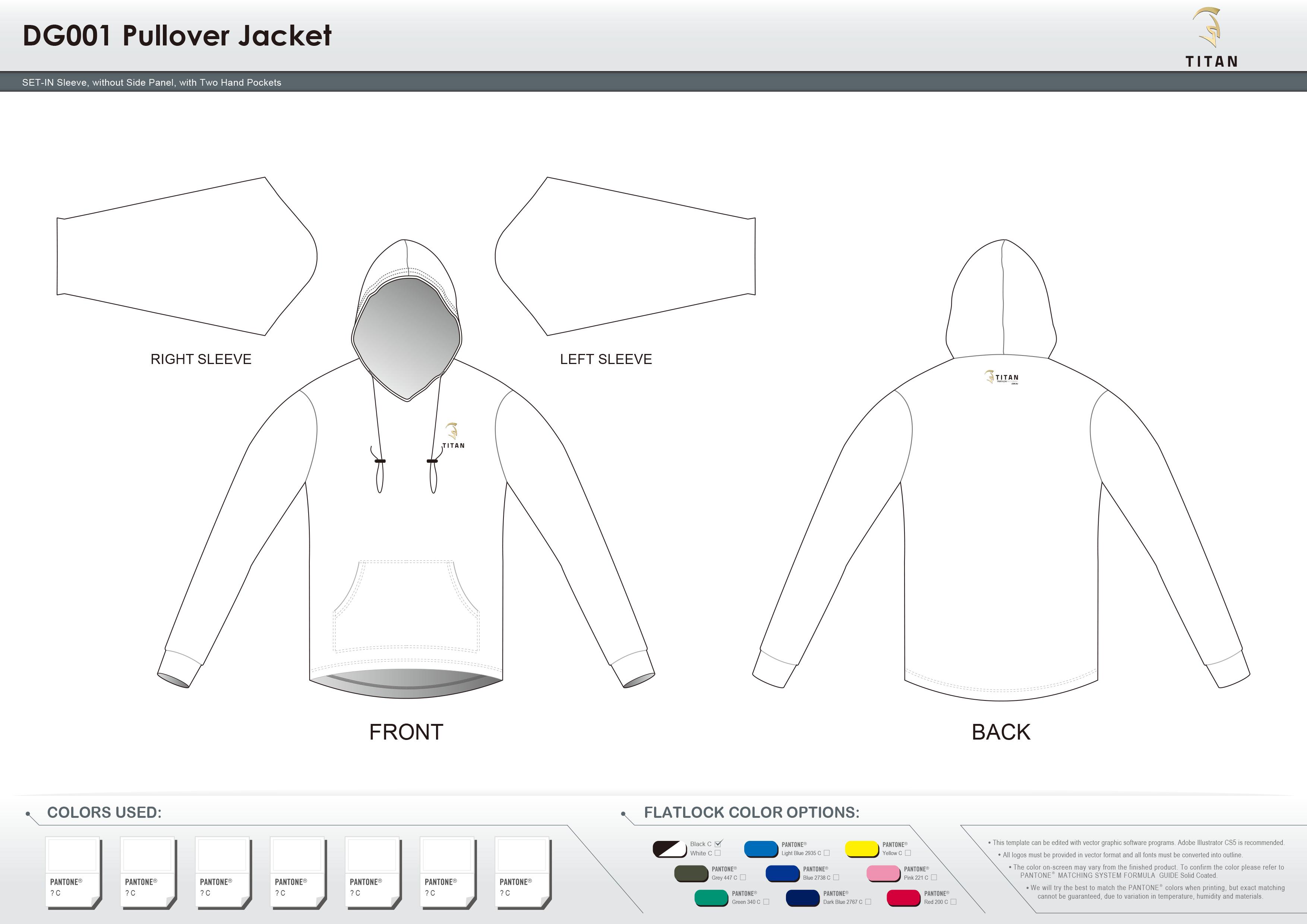 DG001 Pullover Jacket