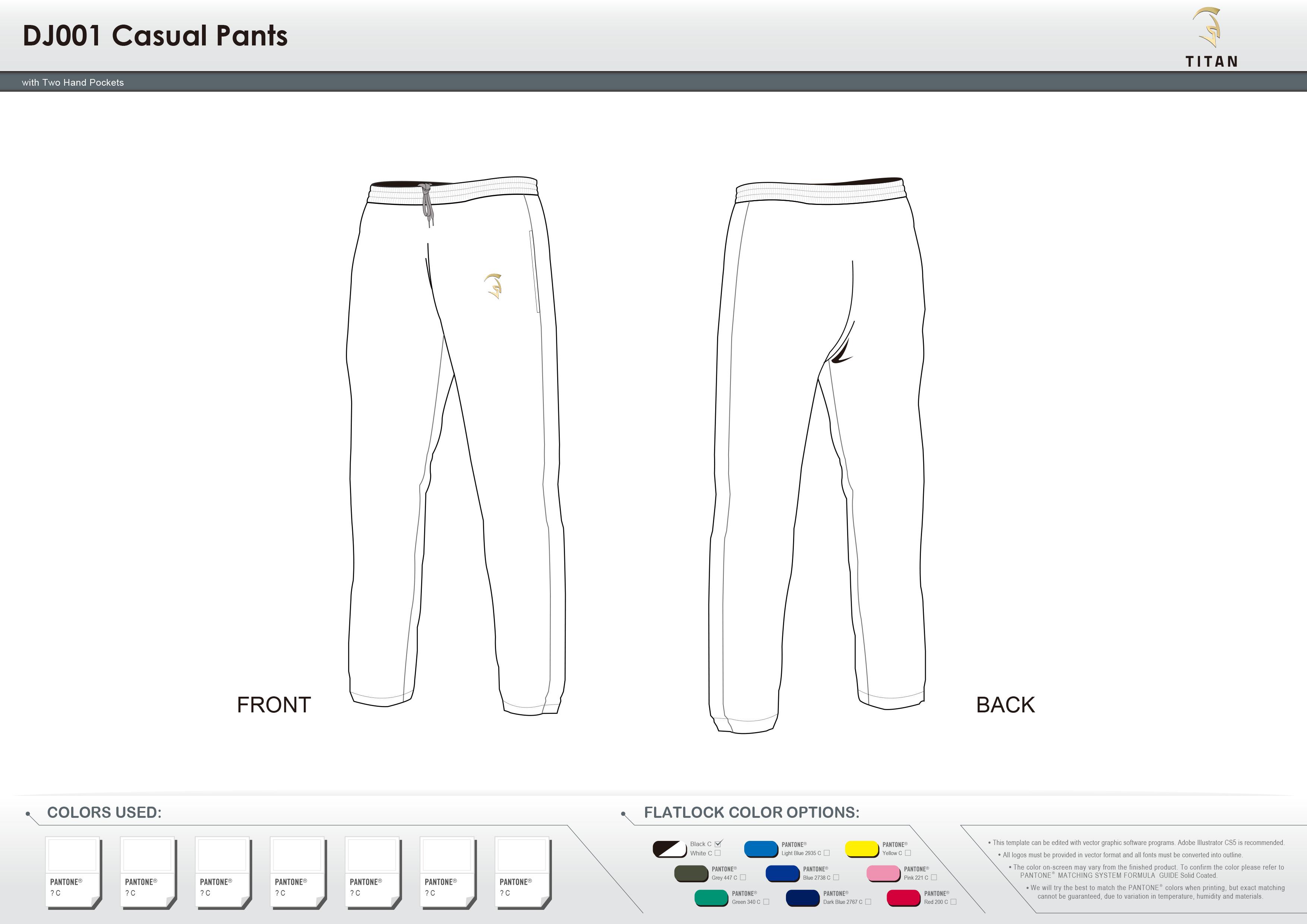 DJ001 Casual Pants