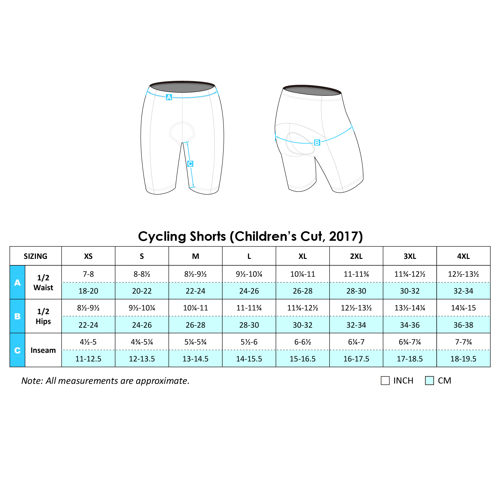 Cycling Shorts 2017