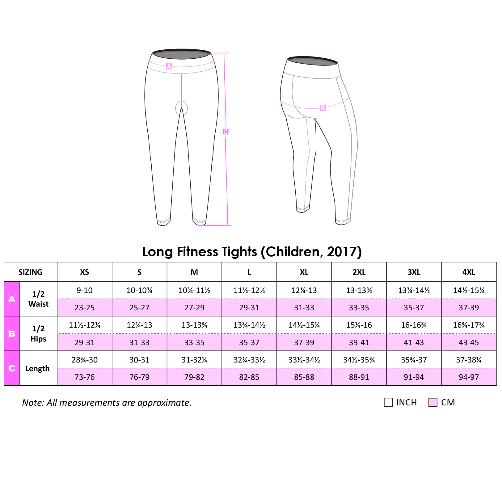 Long Fitness Tights 2017