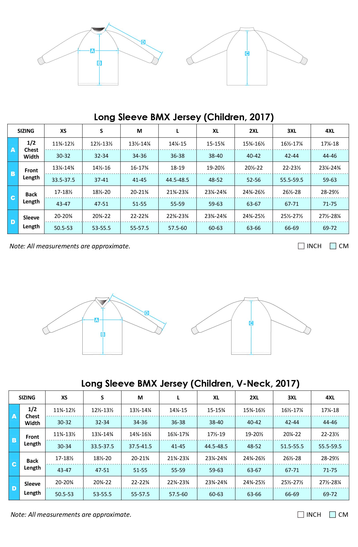 Long Sleeve BMX Jersey 2017