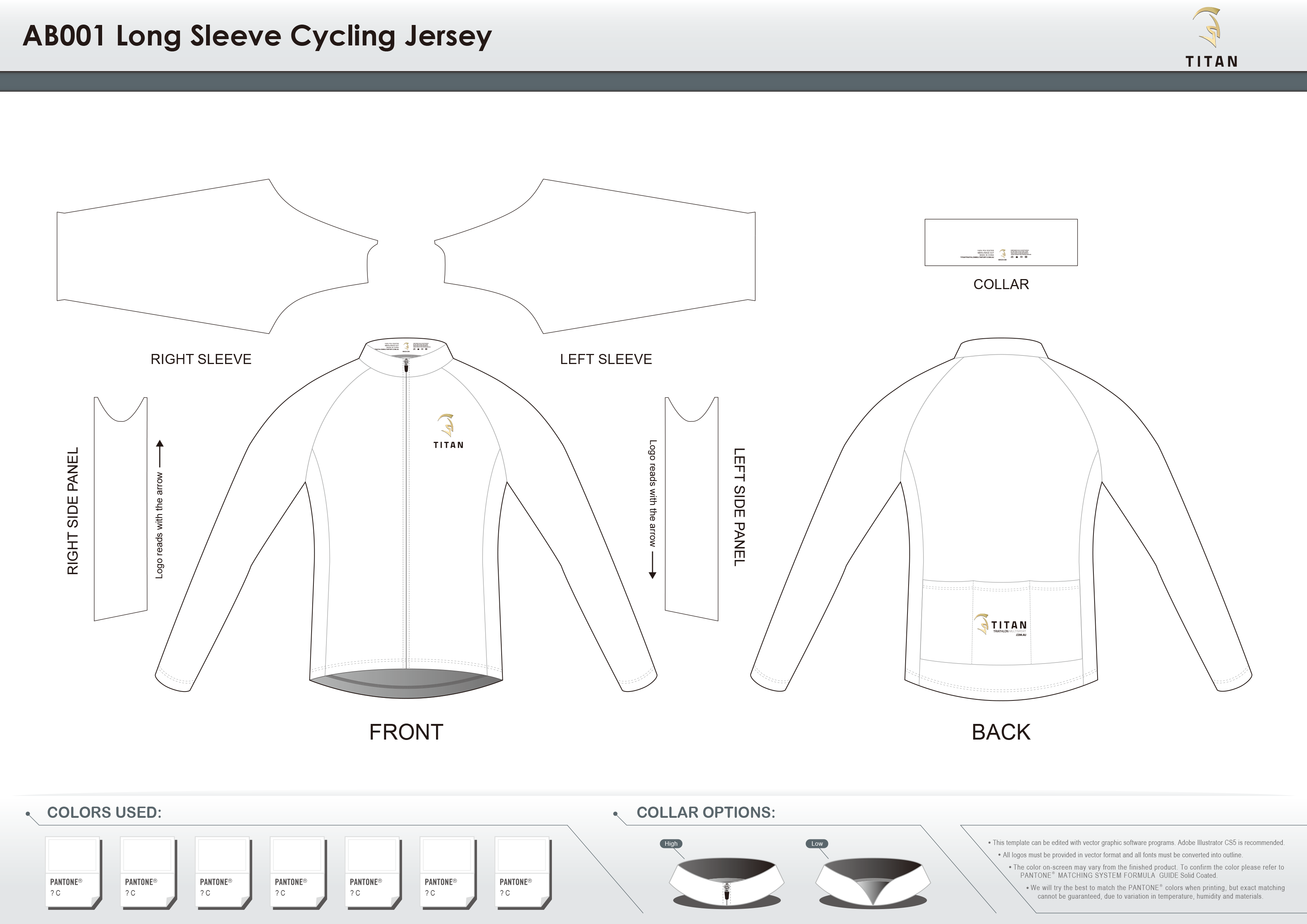 AB001 LS Cycling Jersey