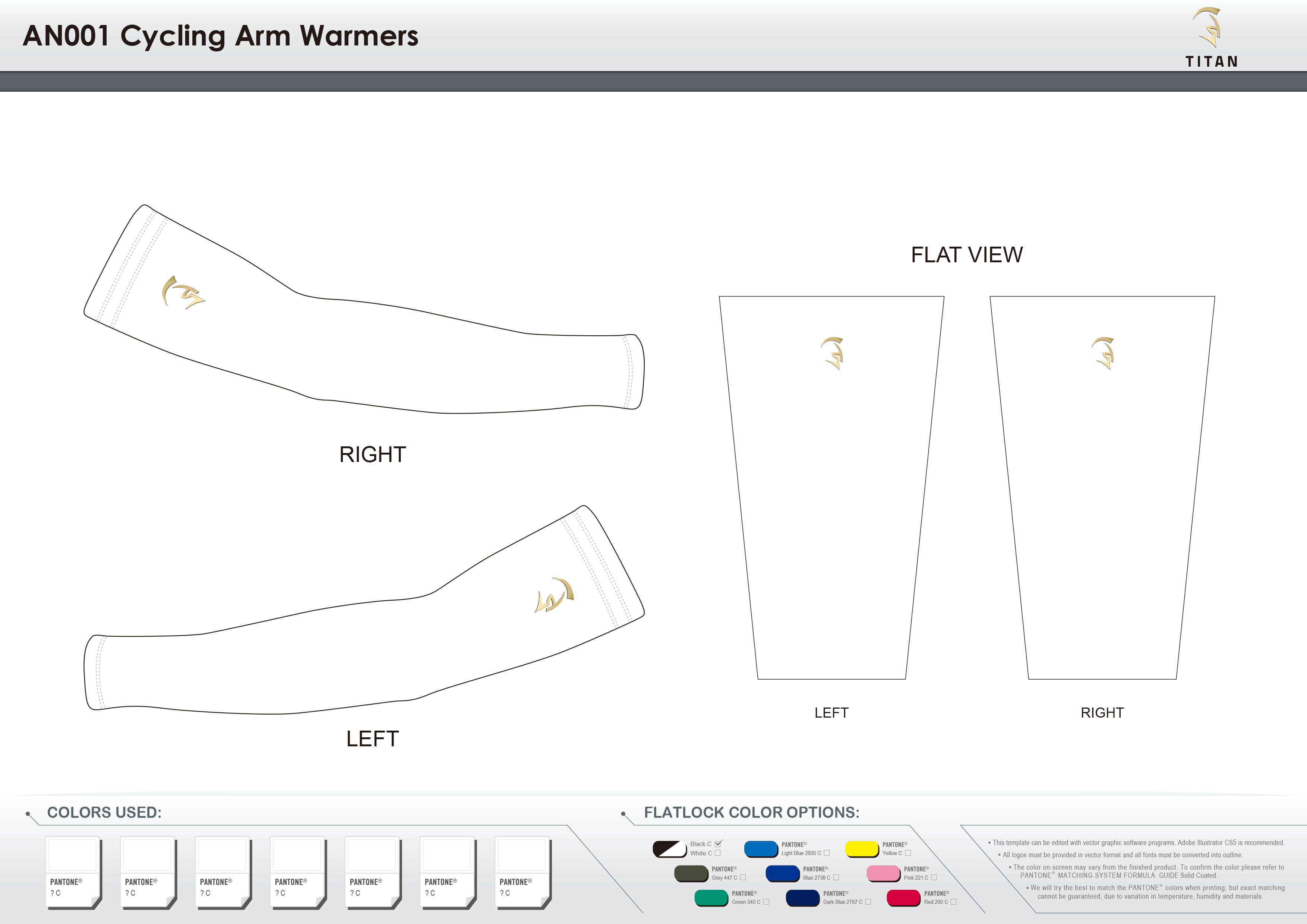 AN001 Cycling Arm Warmers