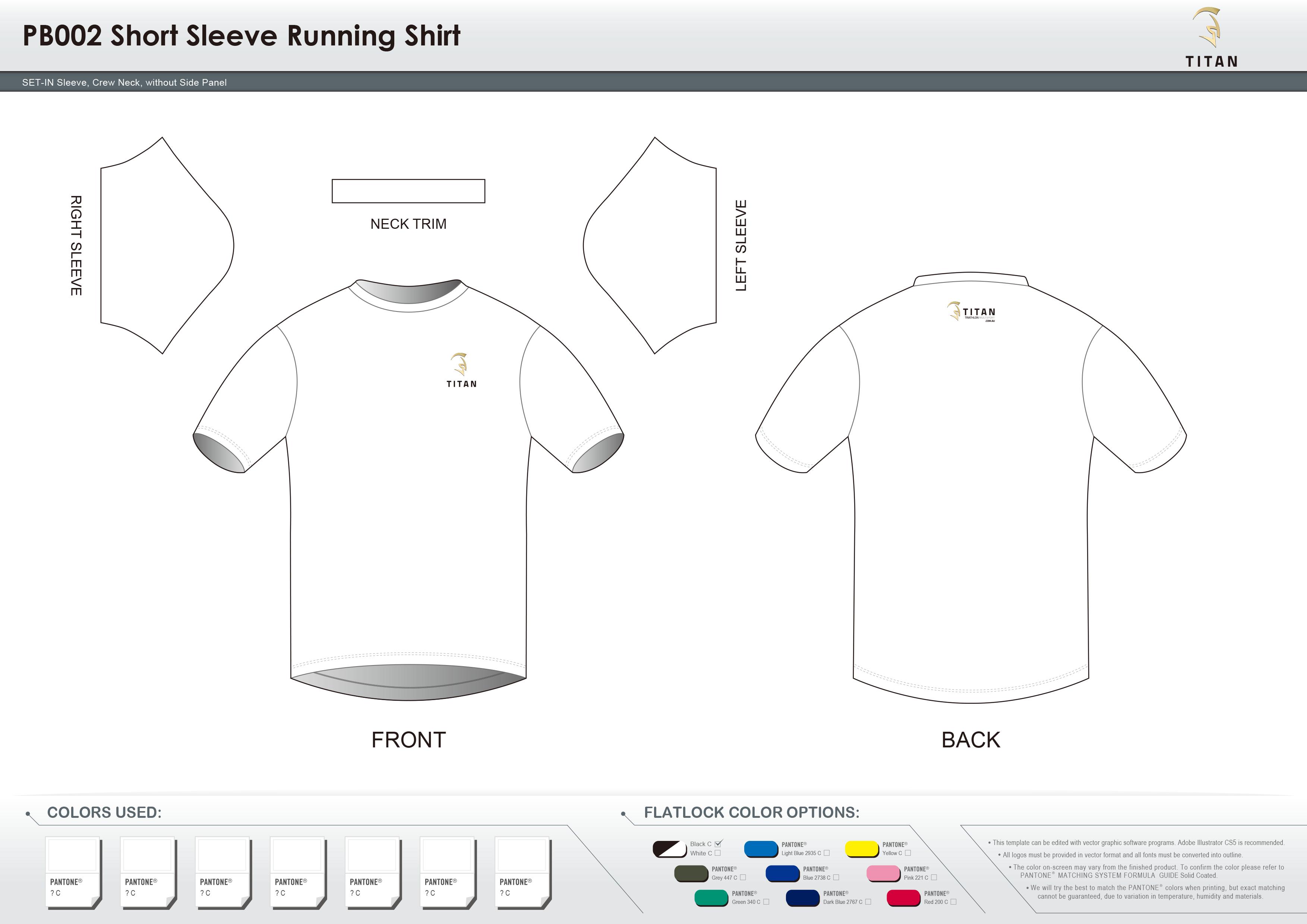 PB002 Short Sleeve Running Shirt