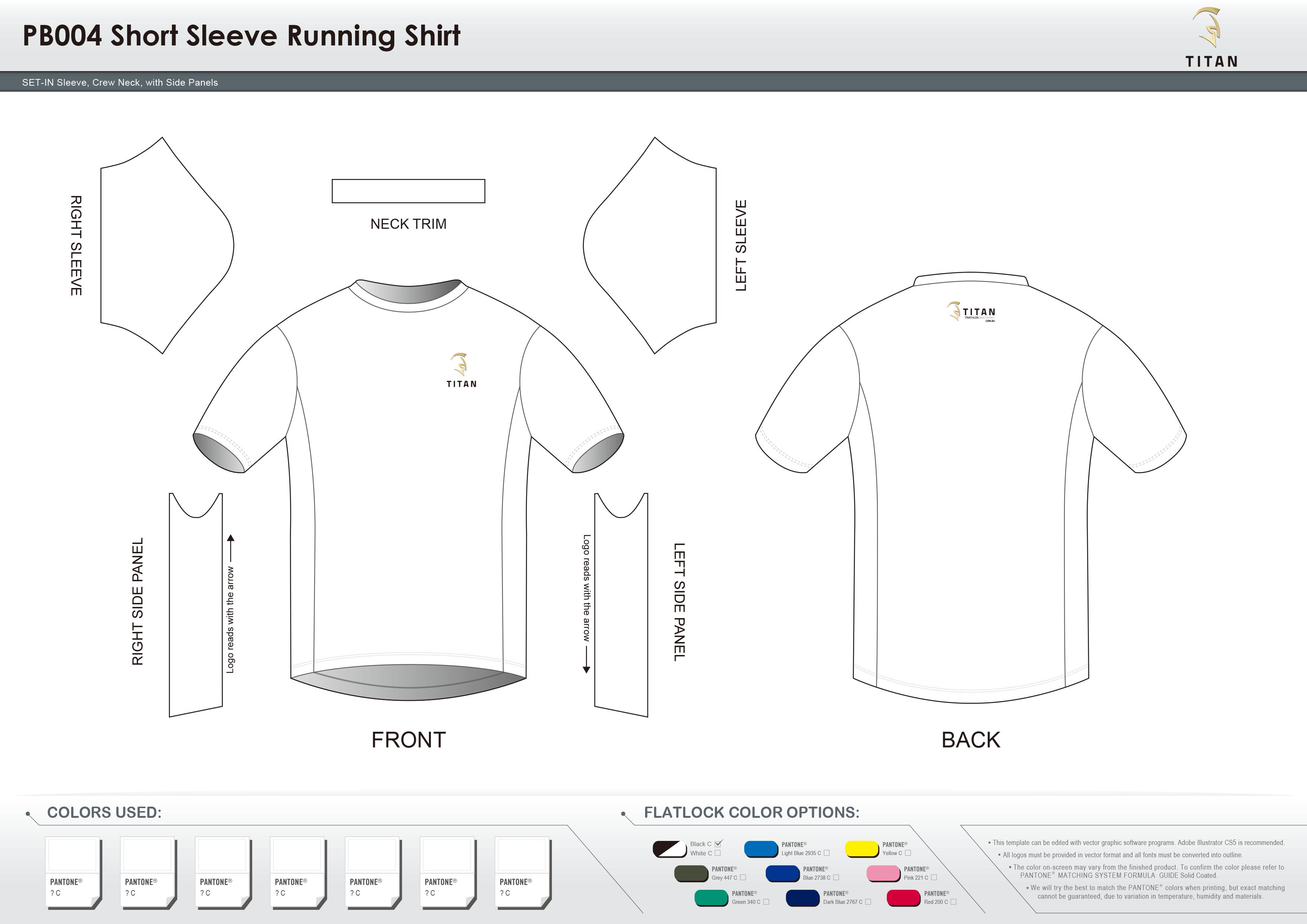 PB004 Short Sleeve Running Shirt