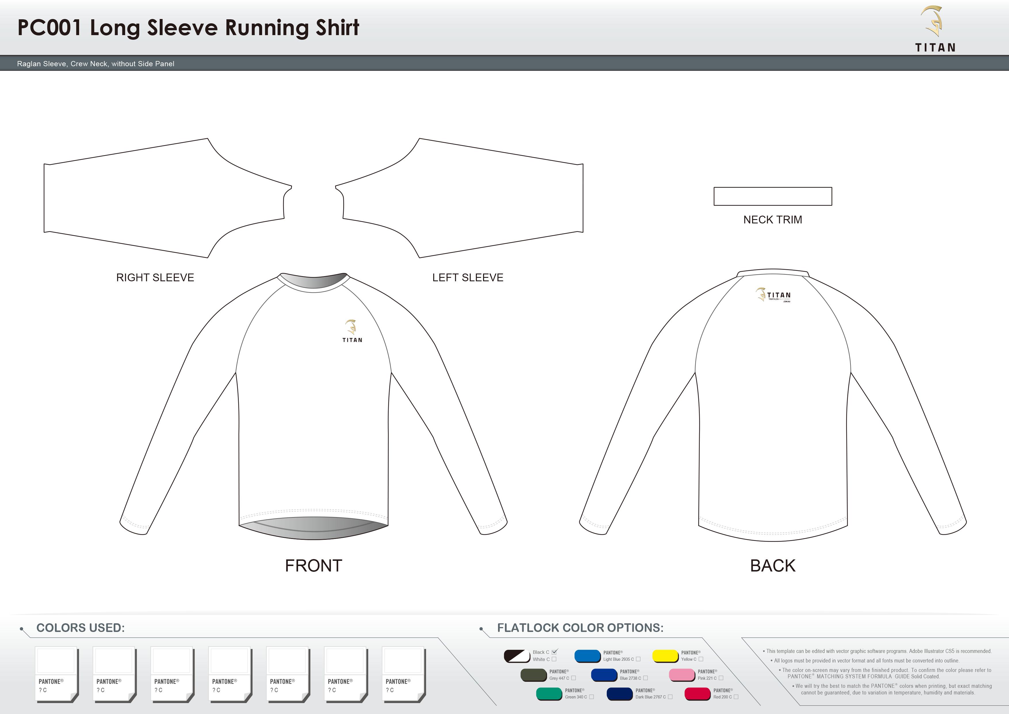 PC001 Long Sleeve Running Shirt