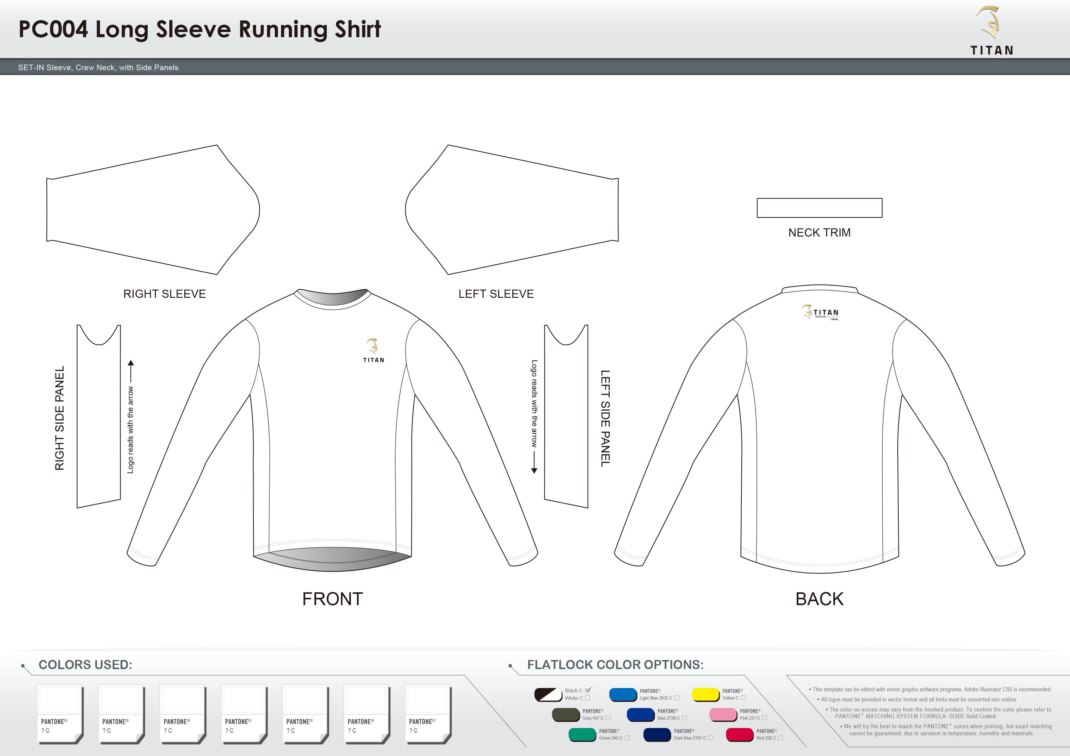 PC004 Long Sleeve Running Shirt