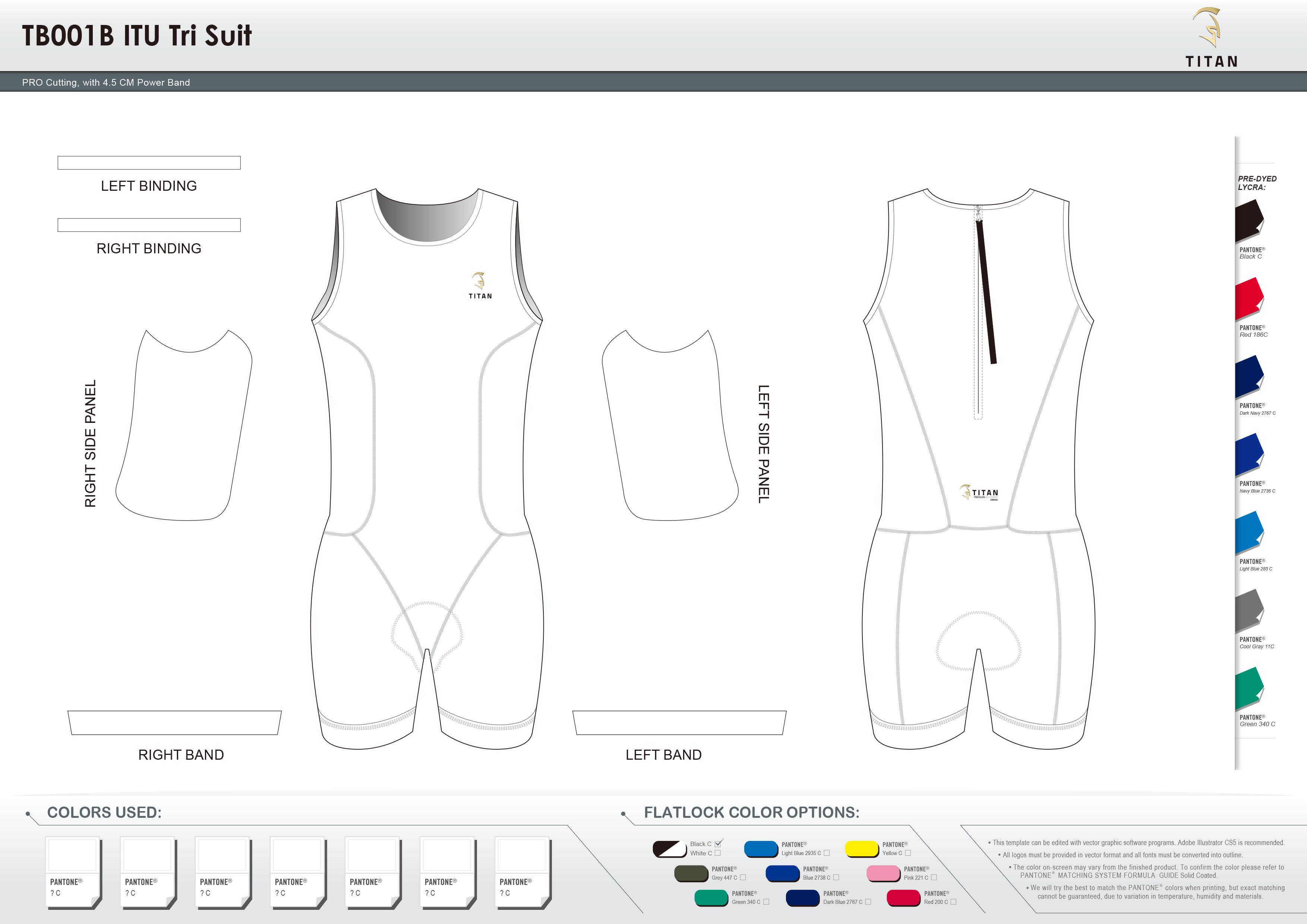 TB001B Men's ITU Tri Suit