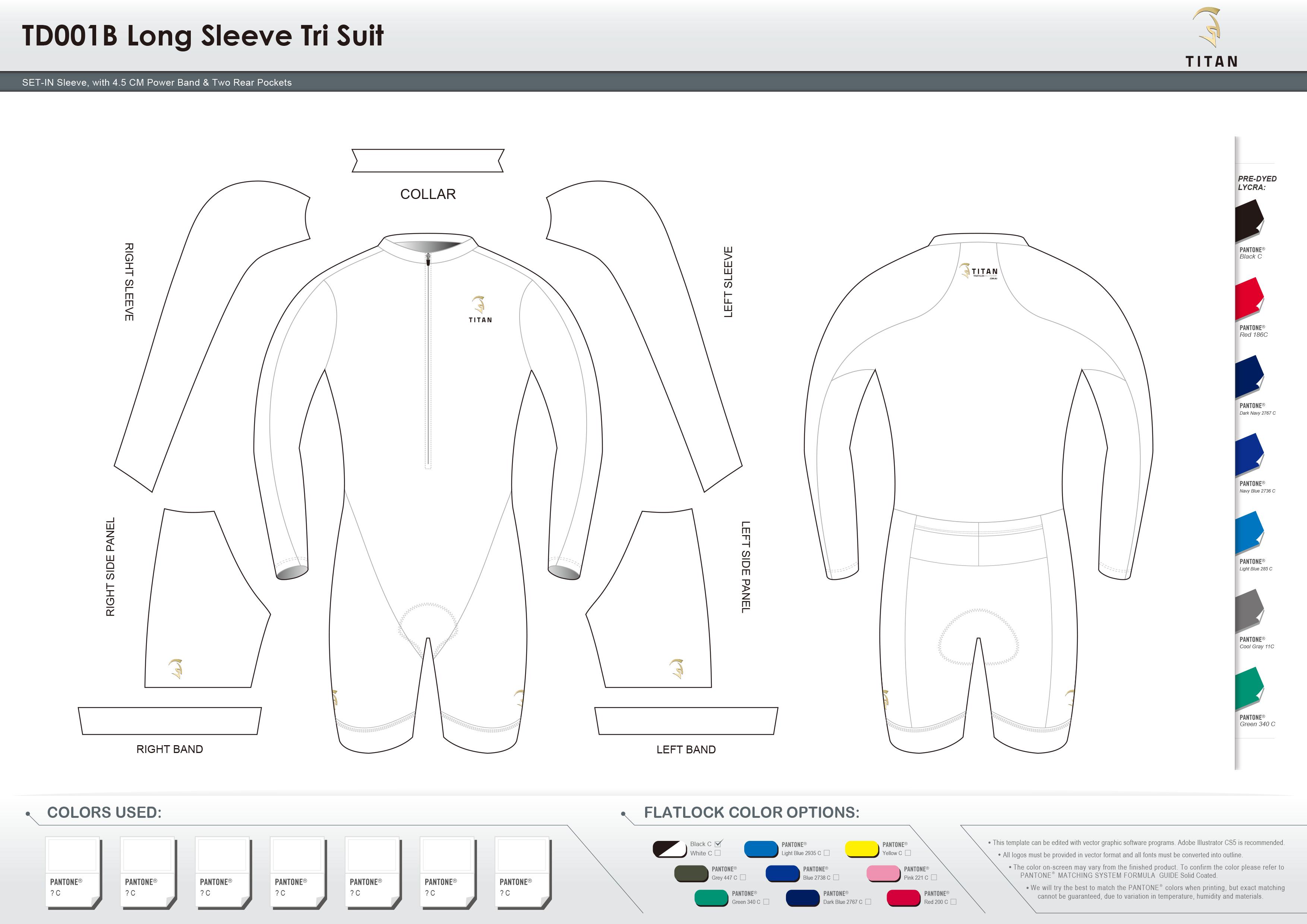 TD001B Men's Long Sleeve Tri Suit