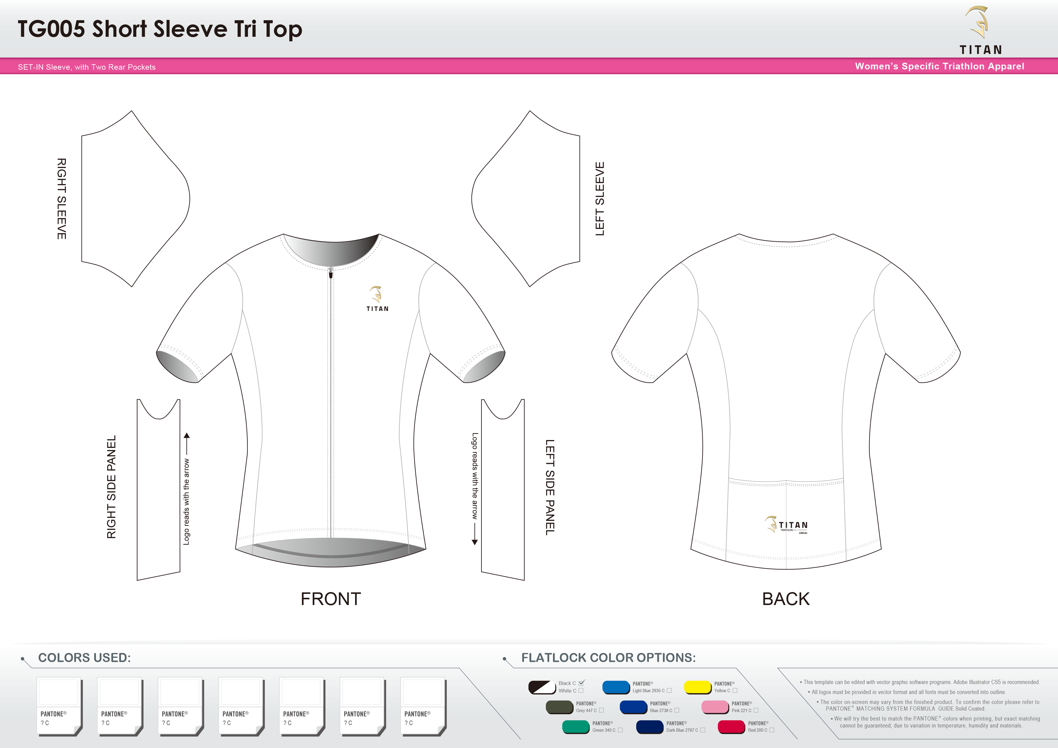 TG005 Short Sleeve Tri Top