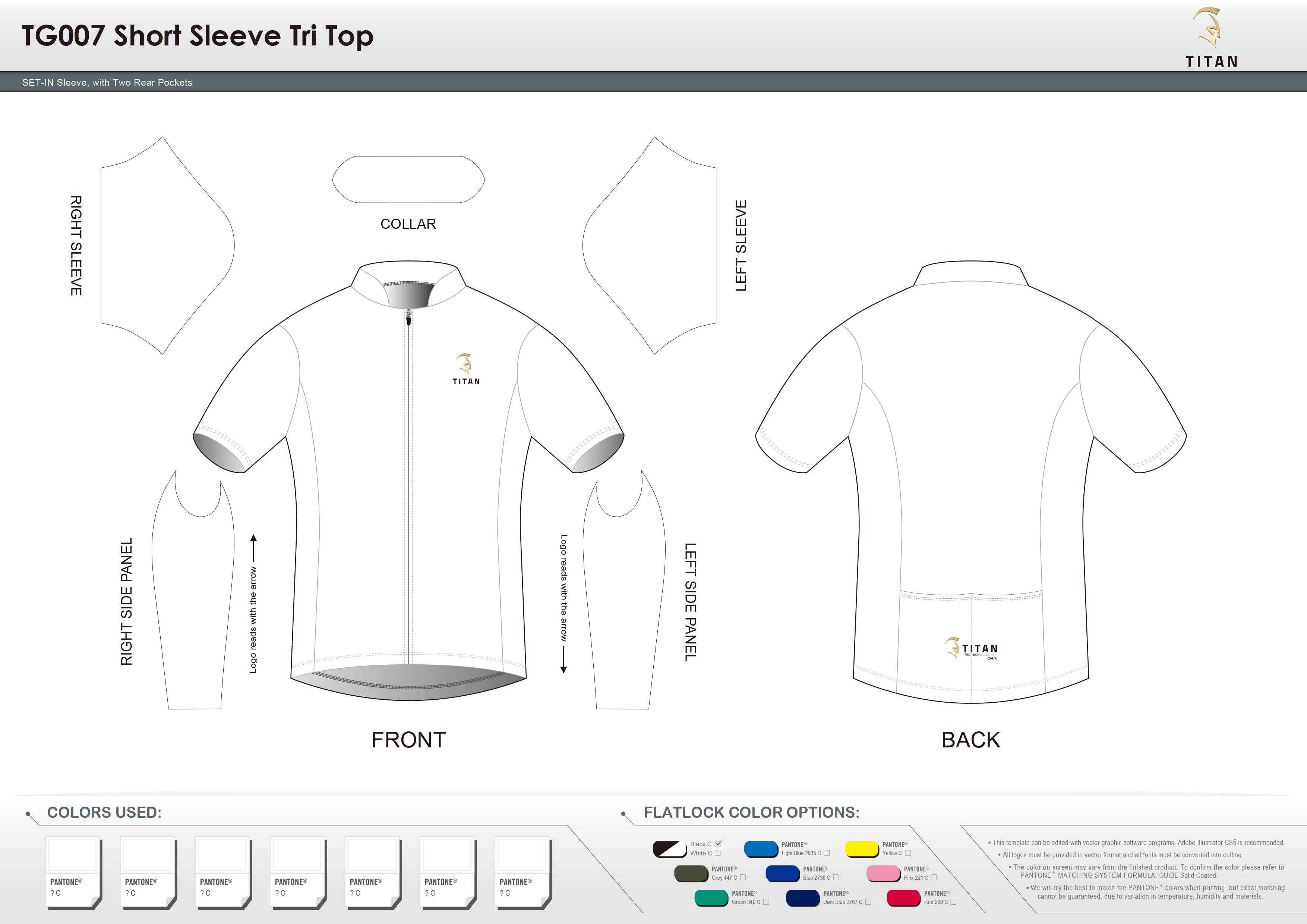TG007 Short Sleeve Tri Top