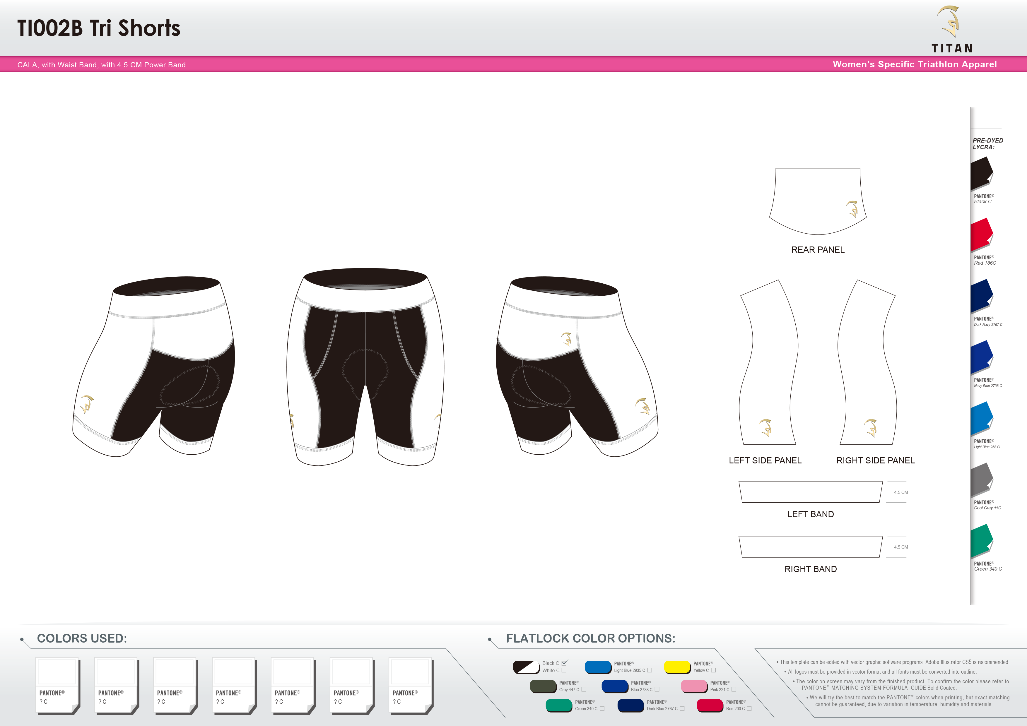TI002B Women's Tri Shorts