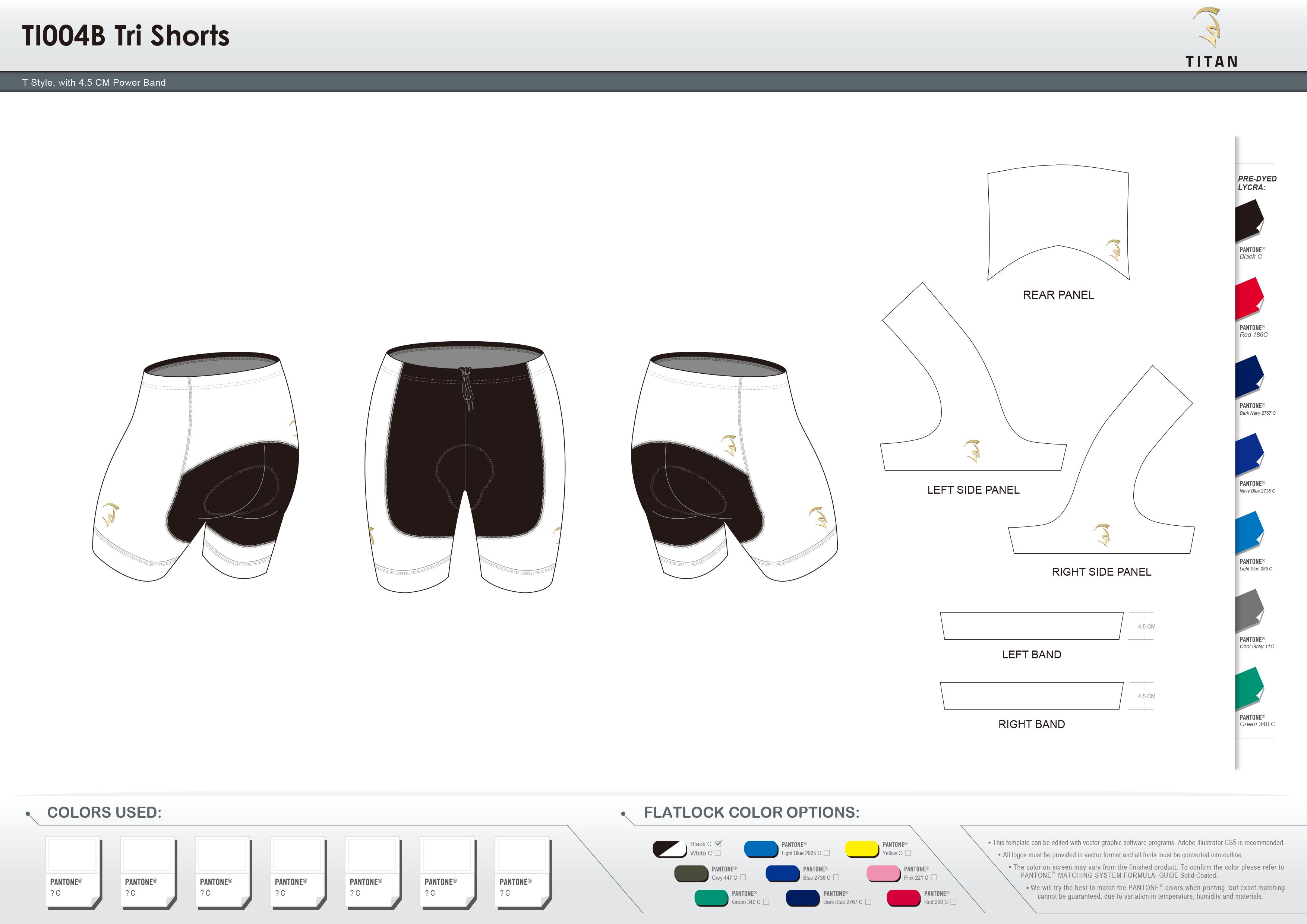 TI004B Tri Shorts