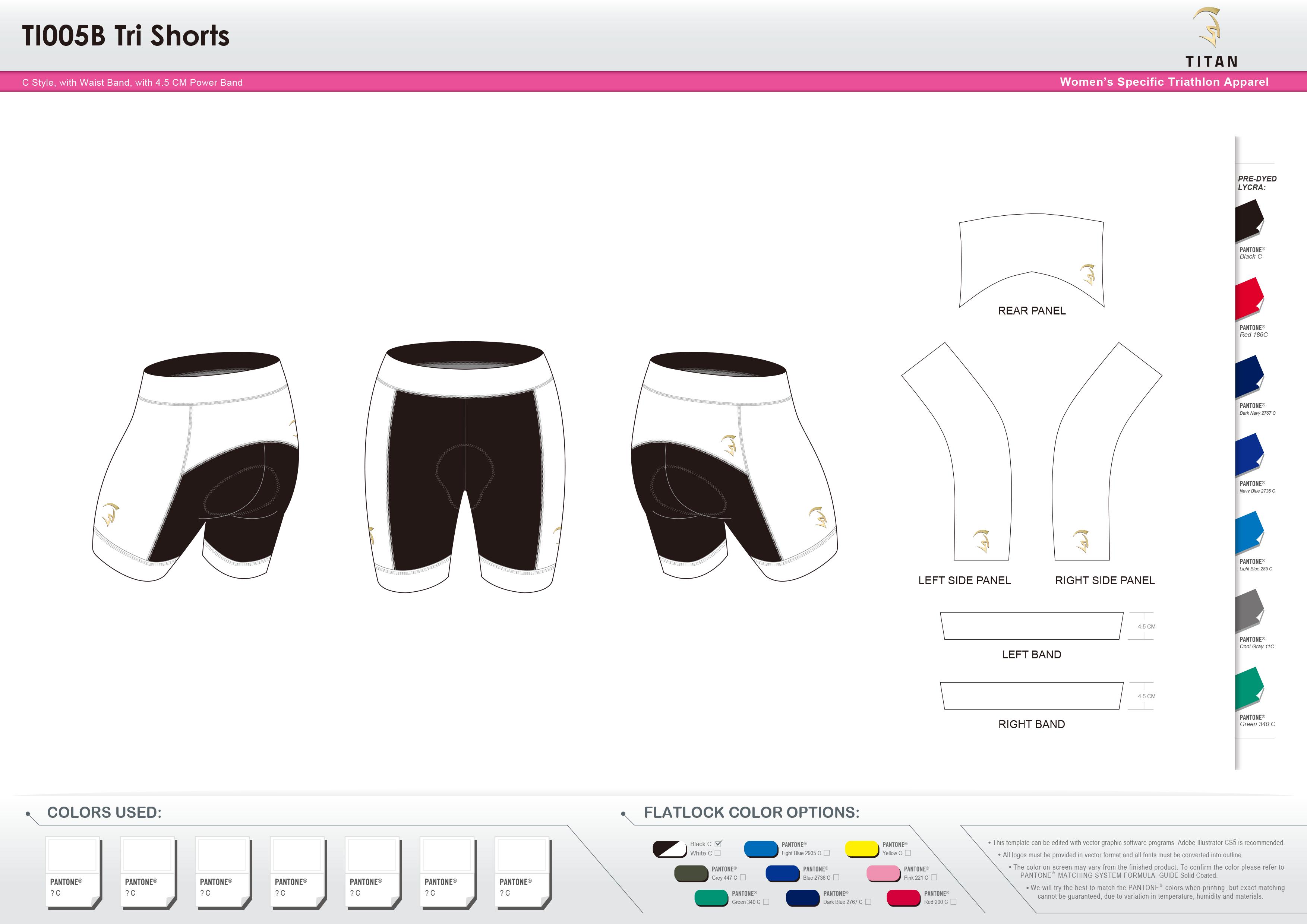 TI005B Women's Tri Shorts