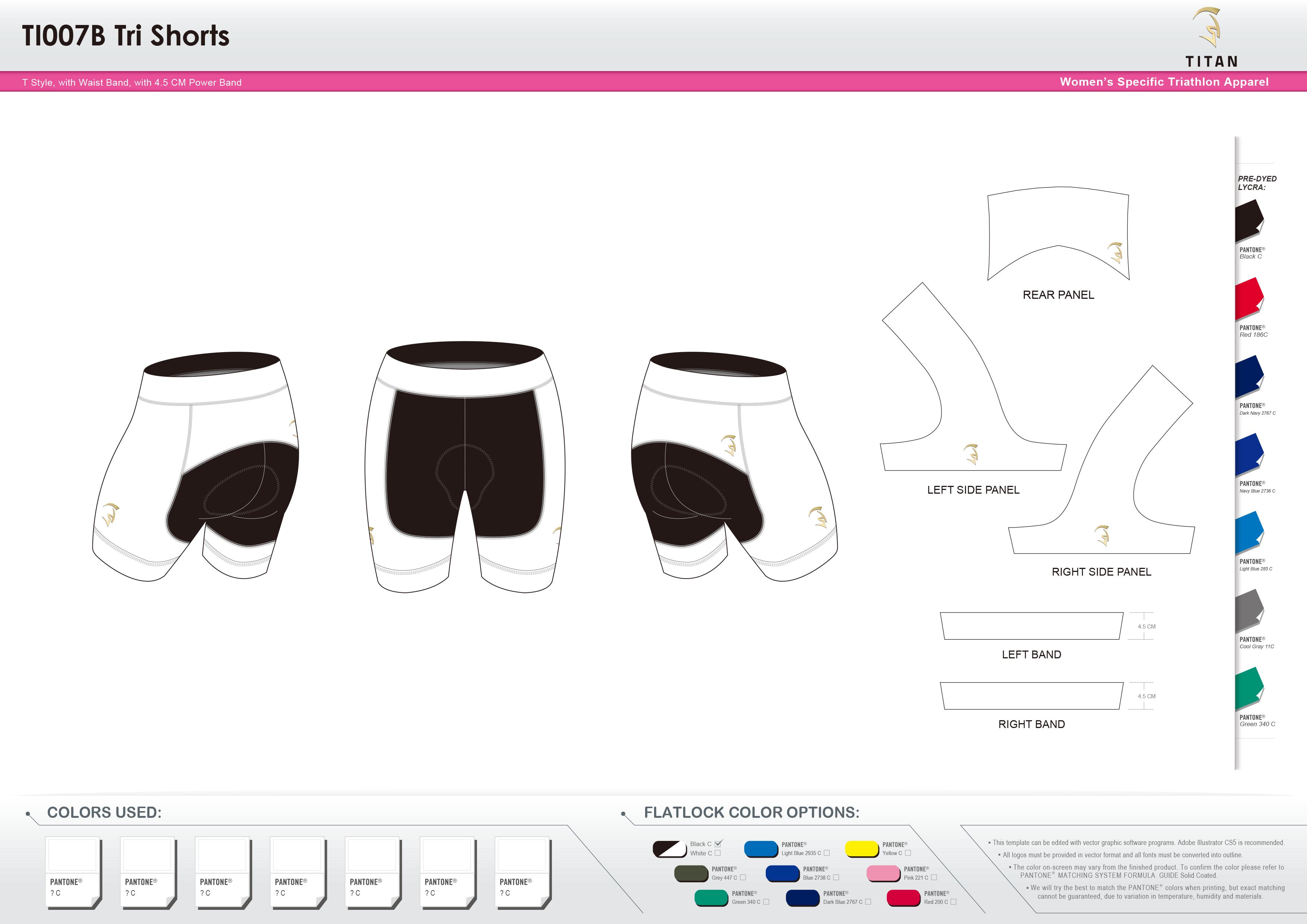 TI007B Women's Tri Shorts