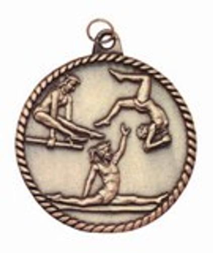 Gymnastics High Relief Medal - Female