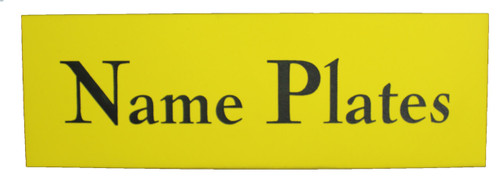 PLASTIC NAME BADGE