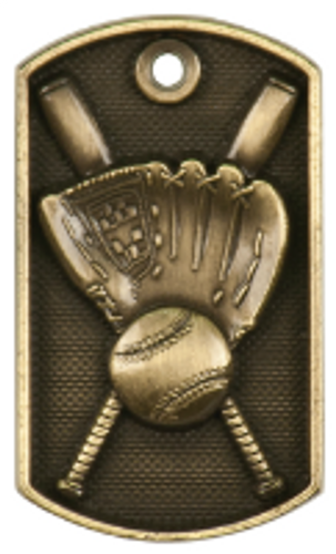Baseball 3-D Dog Tag
