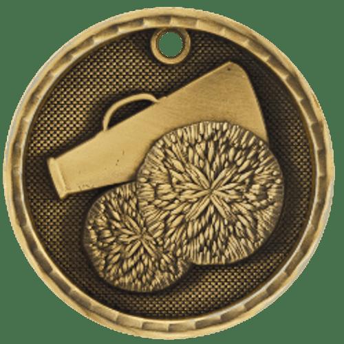 Cheerleading 3-D Medal