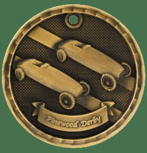 Pinewood Derby 3-D Medal