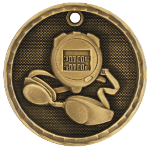 Swimming 3-D Medal