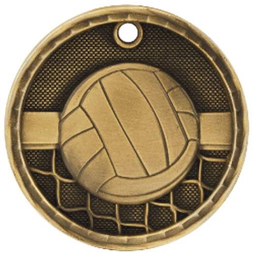 Volleyball 3-D Medal