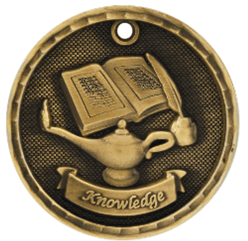 Lamp of Knowledge 3-D Medal