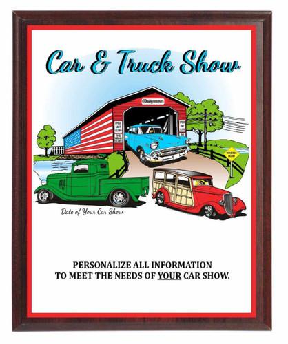 Car & Truck Show Plaque